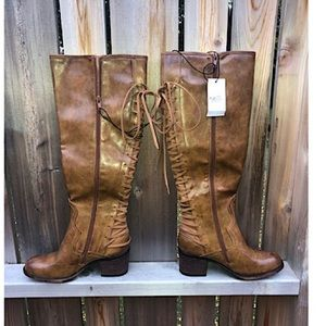 🌾Rue 21 back lace up zip boot size M (7-8)🌾